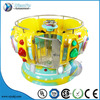 Disco classic go round kiddie rides promotion funny rotate ridding colorful disco kids coin operated game machine