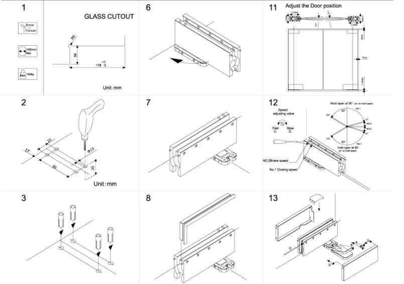 Hot Sale New Design Concealed Glass Door Floor Hinge Buy