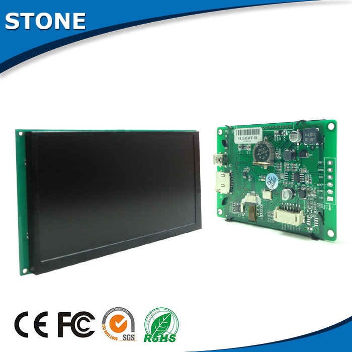 "4.3"" screen monitor rs485 display touch with cpu driver and falsh memory for elevator tft lcd panel"