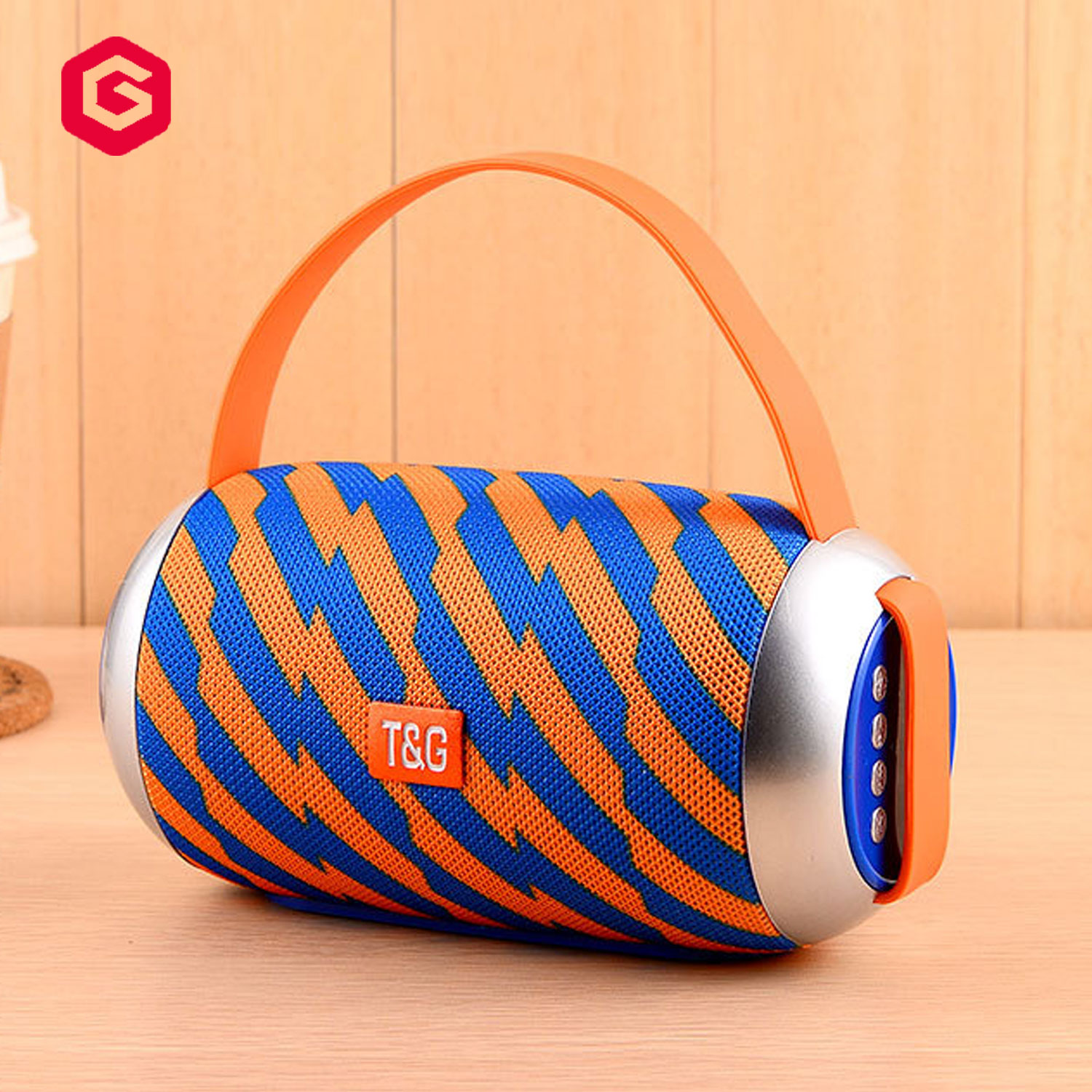 Aluminium  Wireless Speakers Outdoor Portable Mini Speaker With LED Lights Support TF/FM Pocket Size Speaker