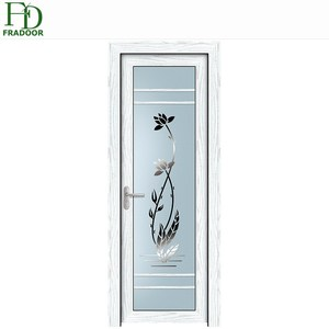 Modern Style Single Swing Aluminum Glass Plastic Doors For Bathrooms Pictures