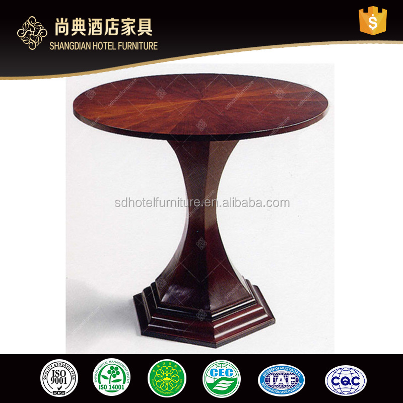 Hotel Simple Style Round Coffee Table Mdf With Veneer