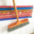 Factory direct sales sponge broom with pvc coated wooden handle