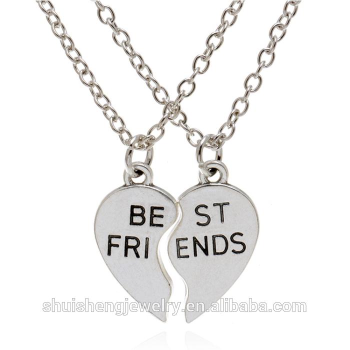 Roestvrij Staal Twee Hart Vorm Hanger Best Friends Forever Mode ...