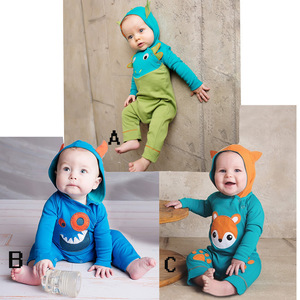Alibaba Wholesale Baby Clothes Korea Kids Fashion Baby Animal Romper