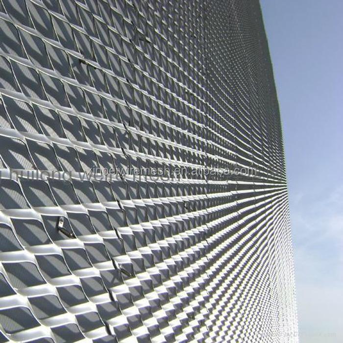Expanded Metal Panels : Aluminum expanded metal mesh facade panels china