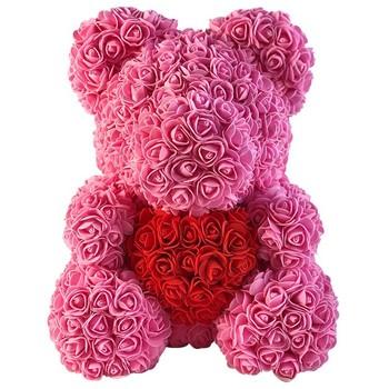 Best Valentines Day Gift For Girlfriend Rose Bear Artificial Flower Bear
