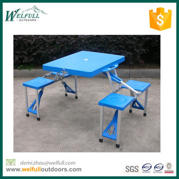 Easy Fold And Open Folding Chair And Tables Camping Picnic Set - Buy ...