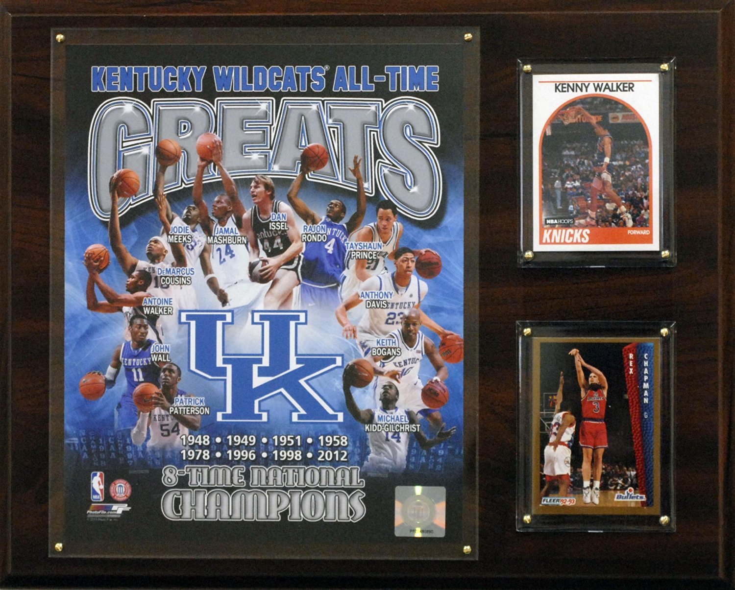 NCAA Kentucky Wildcats All-Time Greats Photo Plaque, 12x15-Inch