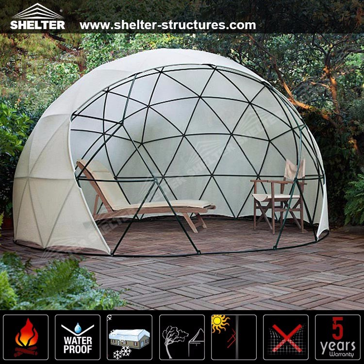 6m Diameter Small Geodesic Dome Marquee Tent For Home