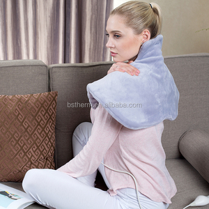 ETL standard Soft Micro Fleece Surface Heat Therapy 110V Neck & Shoulder Electric Heating Pad