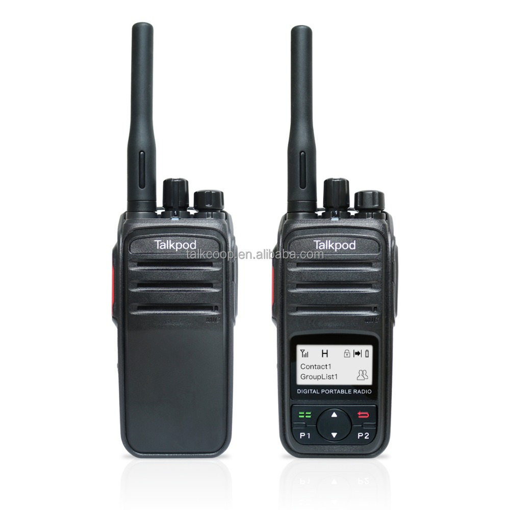 Digital Two Way Radio DMR Transceiver Talkpod D55 UHF Water Resistance IP67 Walkie Talkie
