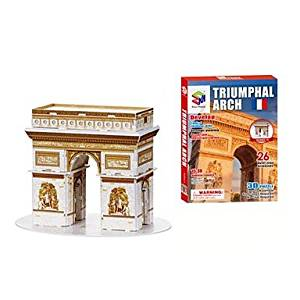 BuW 3D Puzzles The Arch of Triumph for Children and Adult Educational Toys(26PCS),creative toys of boys girls preschool education games & puzzles hobby
