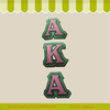 Applique Letter AKA Embroidery Designs Badge Iron-On