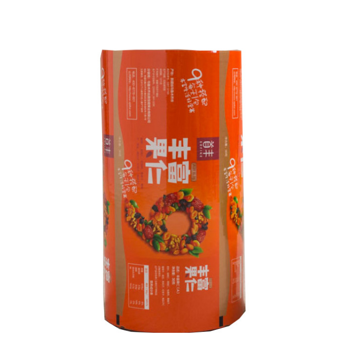 Custom material color printing  Wrapping Roll Aluminum Pet Food PE OPP plastic food packaging roll film