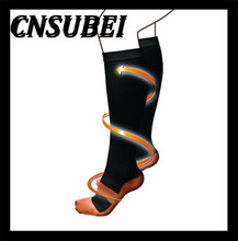 Graduated copper compression performance recovery socks