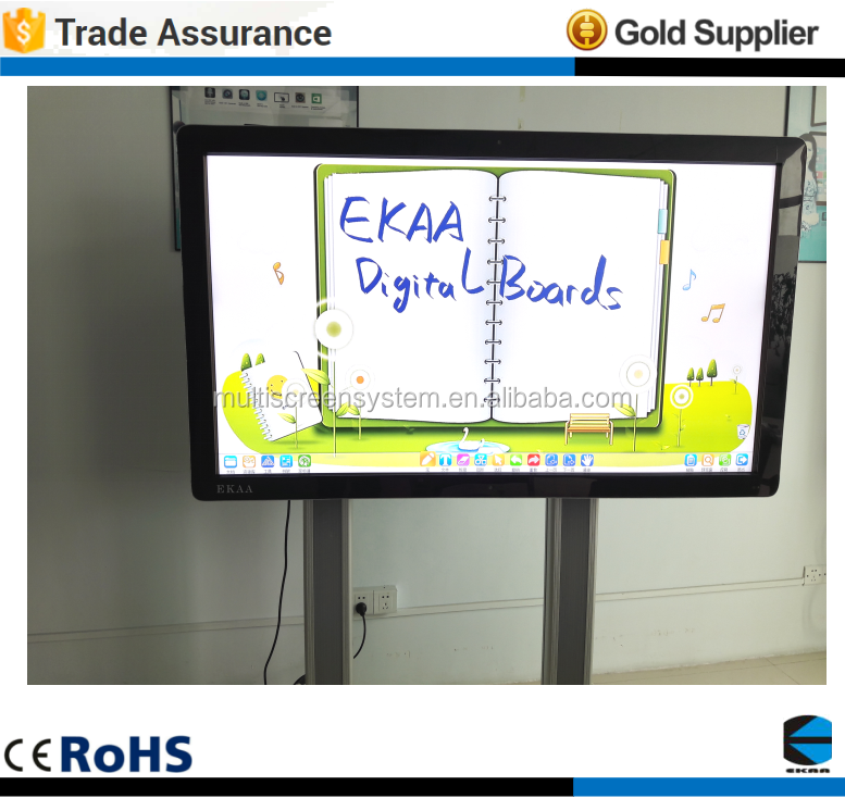EKAA 85 inch multi touch screen smart all in one PC interactive whiteboard for CAD Demonstrate