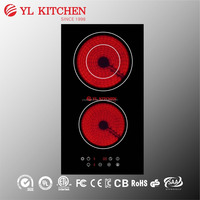 Two burners electric ceramic cooker /infrared cooker /radiant cooker
