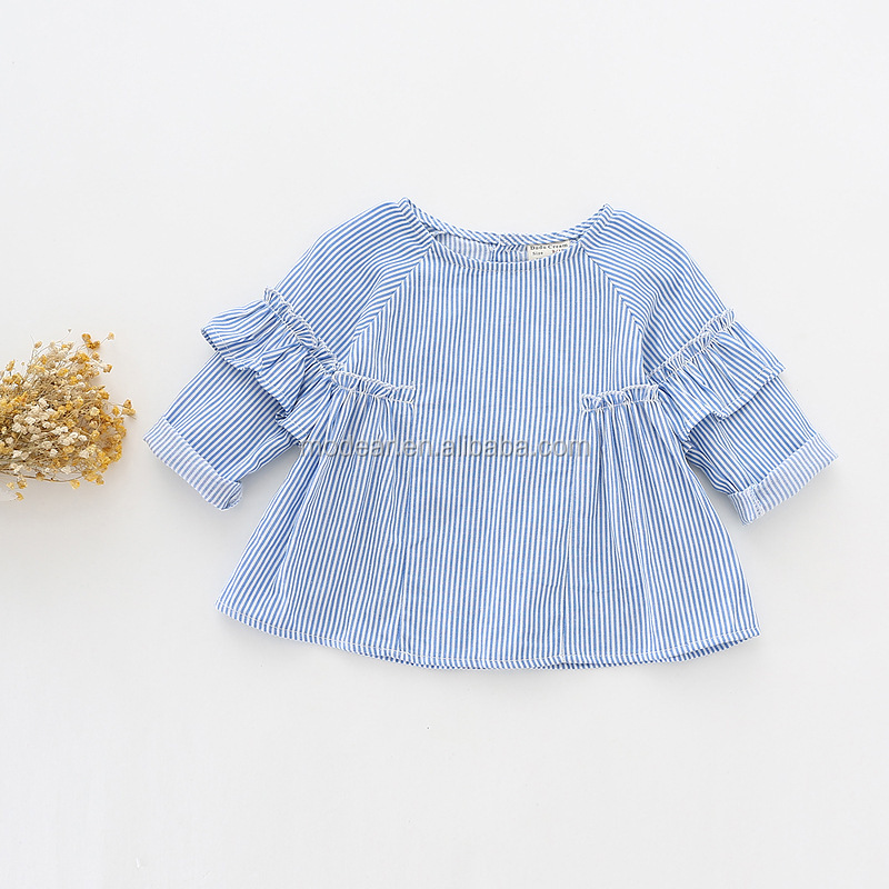 Fashion New Style Baby Kids Clothes Spring Autumn lovely ruffle long sleeved Baby Girls T-shirt