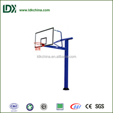 Fixed setted school alone outdoor inground basketball stand