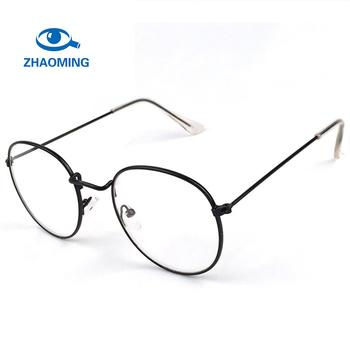 2018 New Designer Woman Glasses Optical Frames Metal Round Glasses ...
