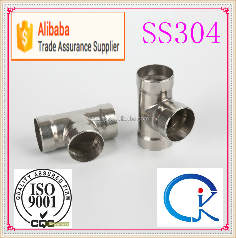 Hot selling stainless steel socket weld equal tee with low price