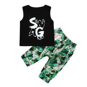 Wholesale Boutique Clothing Baby Summer Sleeveless Clothing Set Import From China