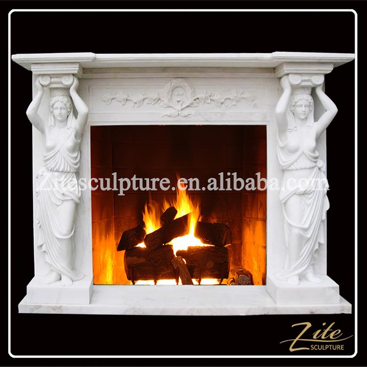 Hand Carved Factory Direct Sale quartz fireplace surround