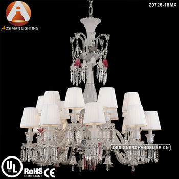 Baccarat Unfocused Colorful Crystal Chandelier with 18 Light
