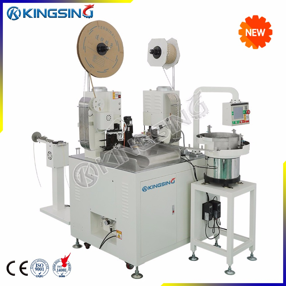Automatic Wire Crimping and Sleeve Inserting Machine, Wire Stripping and Crimping Machine
