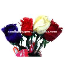 Hot sale artificial feather rose feather flower in different colors