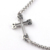 Fashion trendy bar-shaped crosses ladies stainless steel bracelets