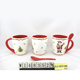 Home office drinkware gifts christmas gift ceramic coffee mug with spoon
