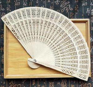 Wholesale Customized wooden hand fan for event and party