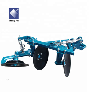 Agricultural equipment two way Walking tractor mounted furrow reversible rotary small disc plough