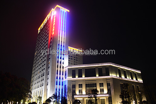 IP68 outdoor glass curtain wall lighting decoration led strip hotel building facade lighting