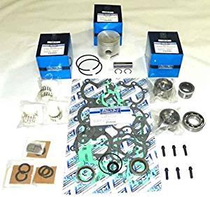 "Mercury 50 & 60 Hp 1984-1990, 70 Hp 1977-1983 3 Cylinder Power Head Rebuild Kit PWC 100-15-10 OEM Piston # 774-8600A 3, 774 9137A 9 9 (.040"" (3.015""))"