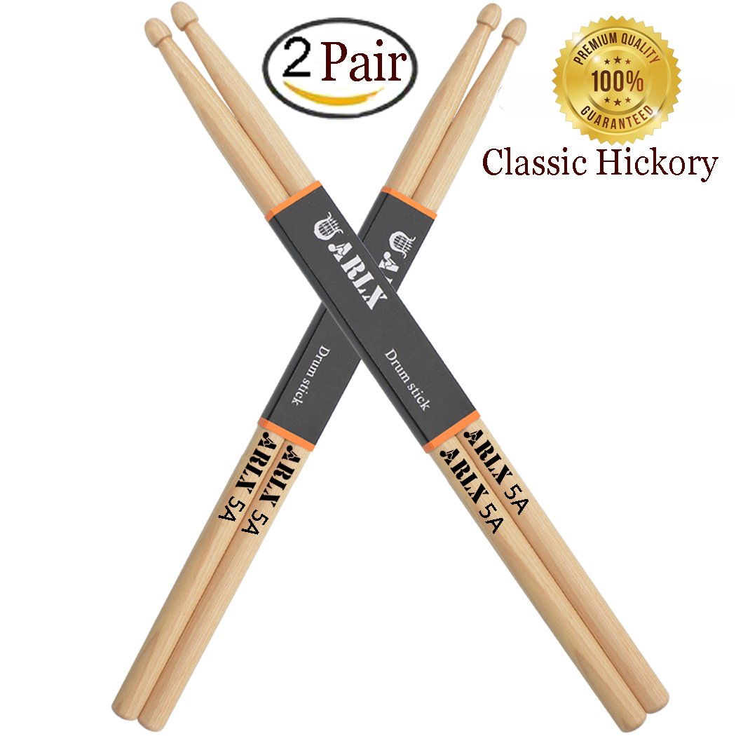 Drum Sticks 5A Classic Hickory Drumstick (2Pair Hickory)