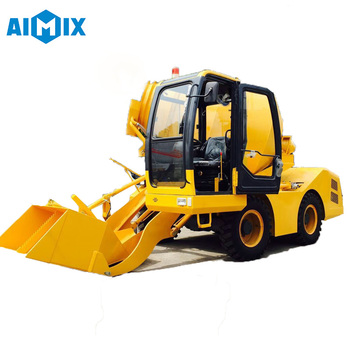 3.5m3 small mini mixer machine self loading concrete mixer price
