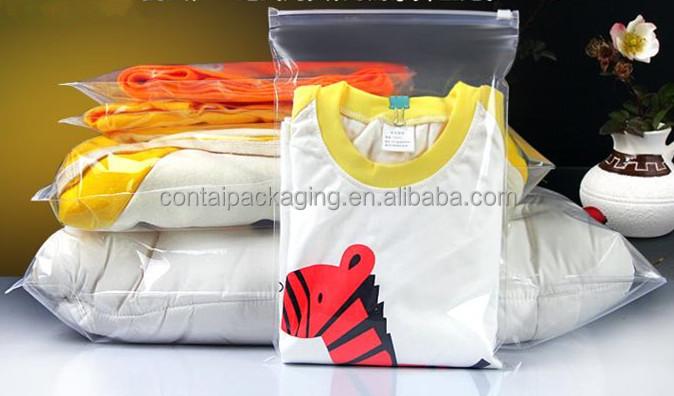 Custom Printed Poly Bag For Clothes Wedding Dress Cover Garment Storage