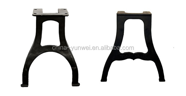 Rustic Cast Iron Furniture Spare Parts For Glass Coffee Table Legs