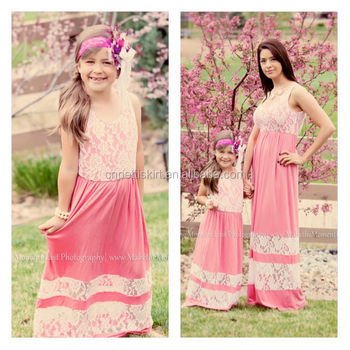 84d5b533f9670 yiwu koya factory Mommy and me maxi dress mother and daughter maxi dress  design kids clothing