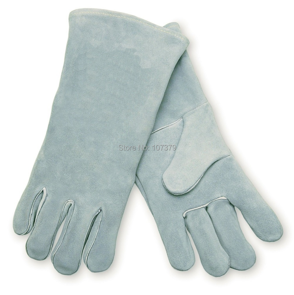 Leather work gloves china -  Leather Safety Glove Split Cow Leather Welding Work Glove Premium Deluxe Wing Thumb Leather Welder Gloves