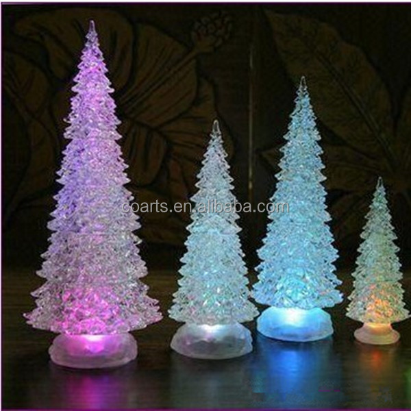 Fashion design custom mini color changing acrylic Fiber Optic christmas tree light