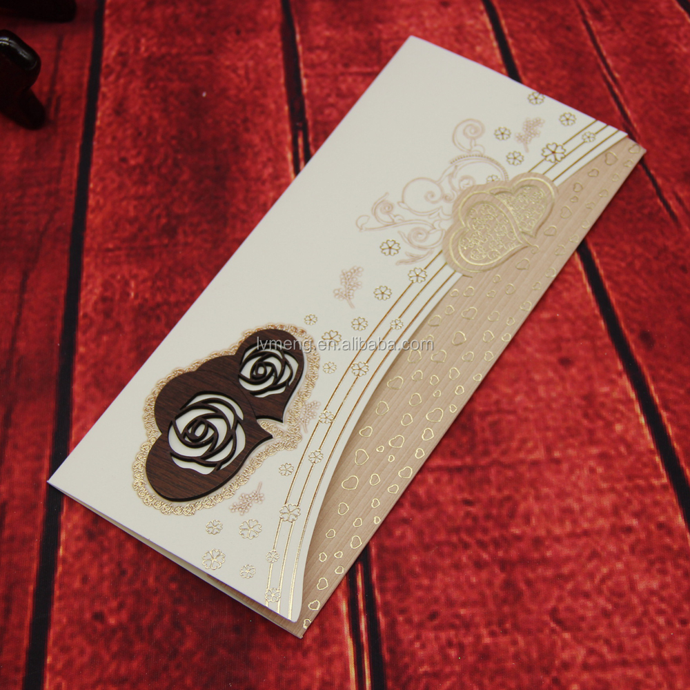 Cusrom Wooden Wedding Invitation Card,Wedding Card Design By ...