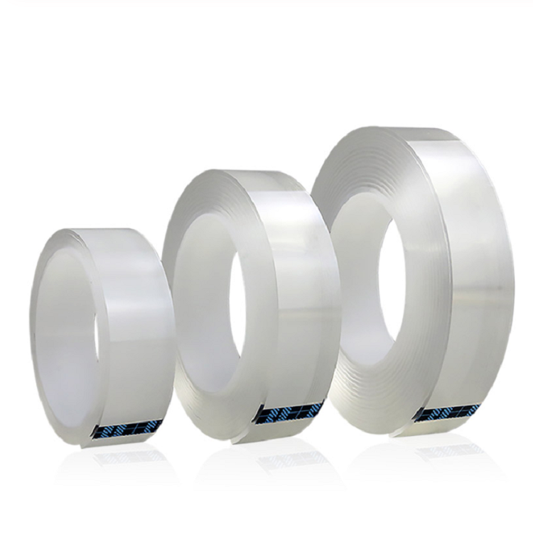 Multifunctional Double Sided Tape Nano Transparent No Trace Acrylic Tape Cleanable Reuse Waterproof Adhesive Tape
