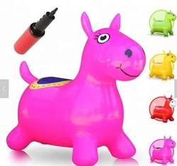 Jumping horse bouncing animal toy ride giant inflatable animal china supplier
