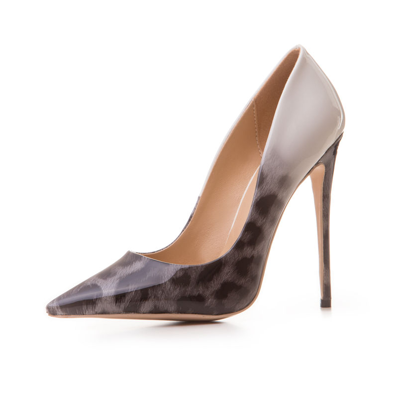 animal stiletto high printing trendy pu leopard heel pumps women 2018 AwFSZxqTBn