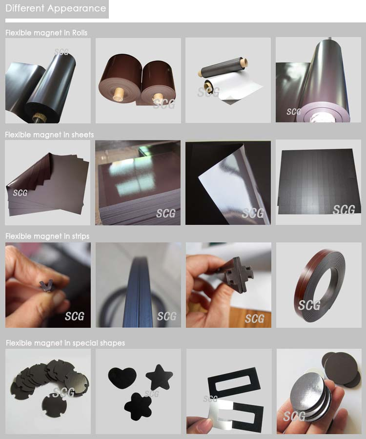 Anisotropic thick strong magnet sheets for sale
