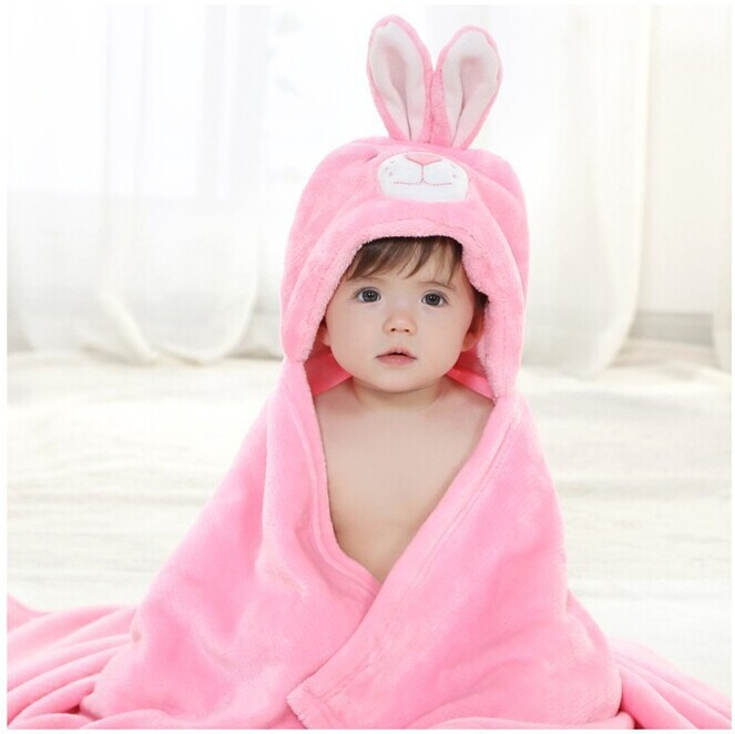 Material Polyester. fabric coral fleece. Get Quotations · 2015 Flannel  Animal Hooded Baby Bathrobe Baby Girl Boy Infant Bath robe Baby Bath Towel  Cute 898fa8fde